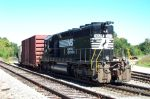 NS 3228 switches in the yard headed for the Goodyear Plant